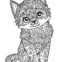 Coloring Cute Kitten Wallpaper Hd Pages Animals For Adults Androids Cats Adults