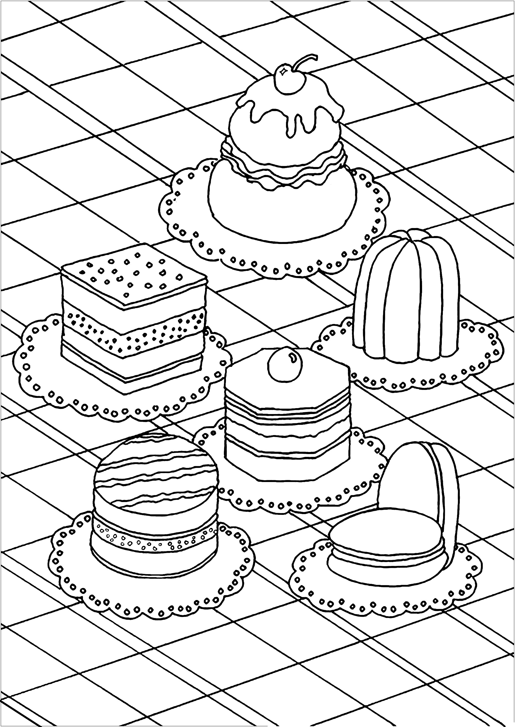 Pastry Coloring Pages