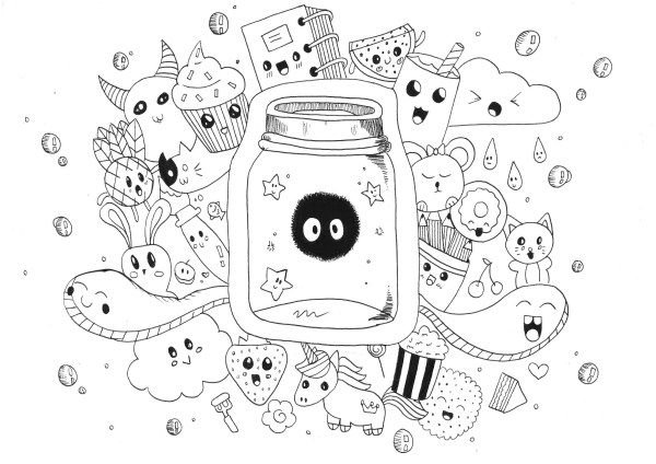 cute monster coloring pages # 15