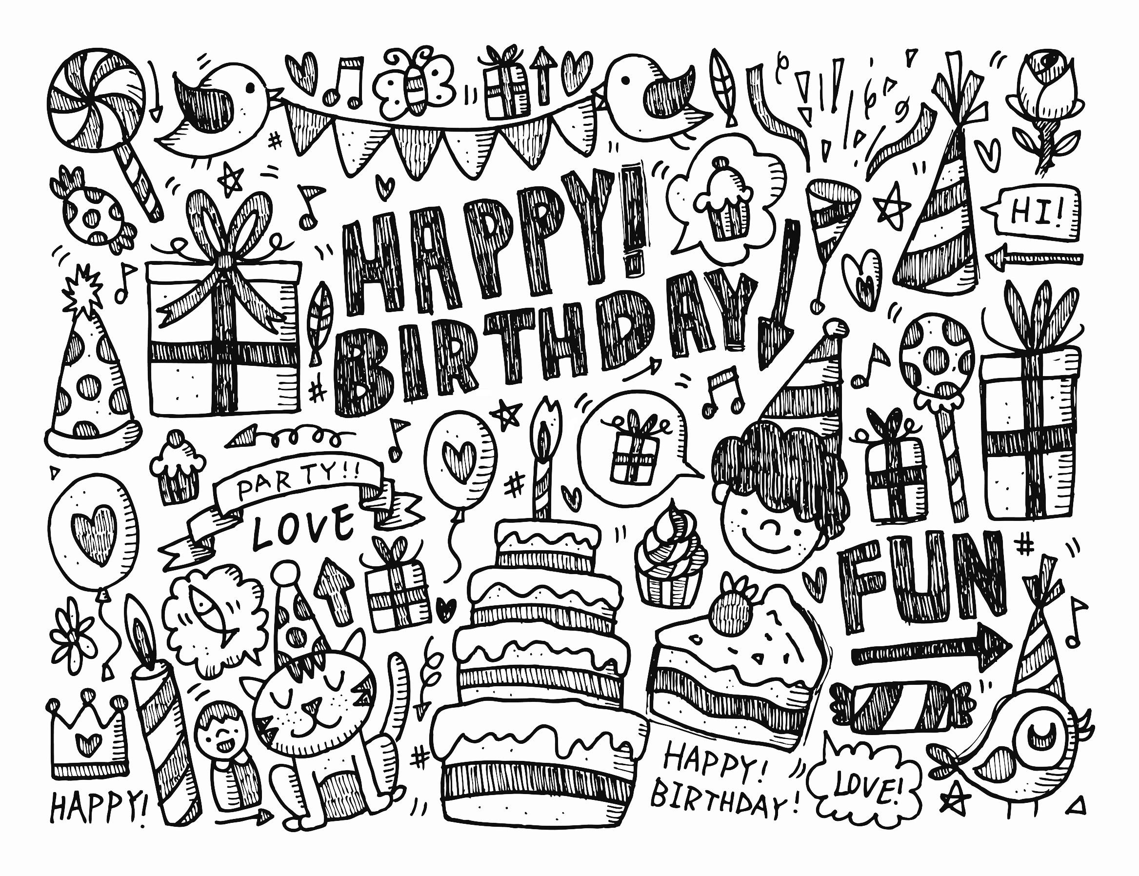 Doodle Happy Birthday By No Oo2008 Doodling Doodle Art