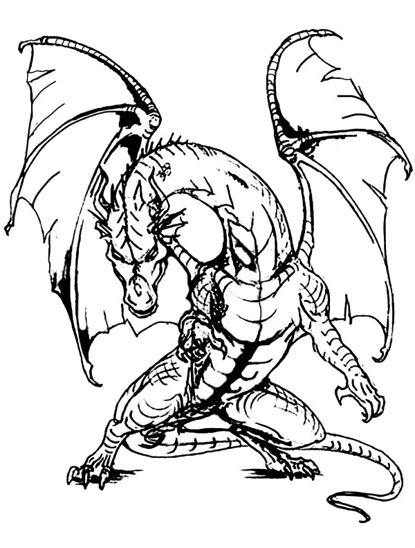 coloring pages dragon # 3
