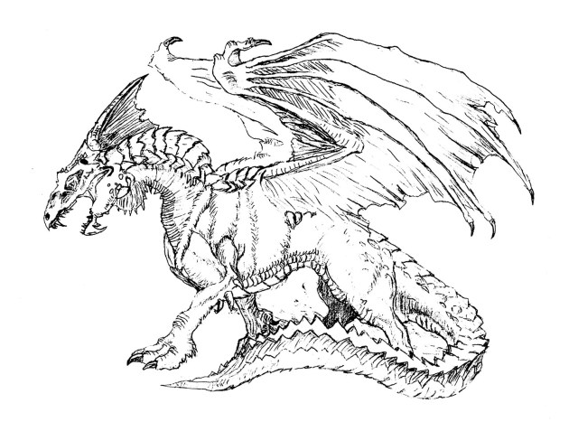 Scary dragon - Dragons Adult Coloring Pages