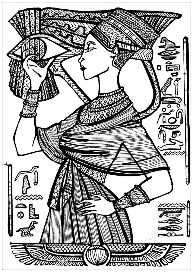 Cleopatra - Egypt Adult Coloring Pages