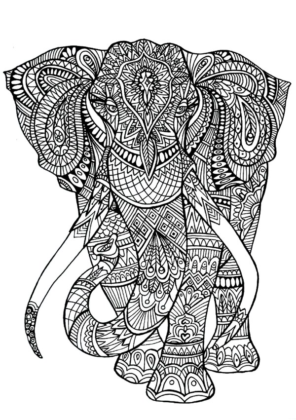 coloring pages elephant # 10