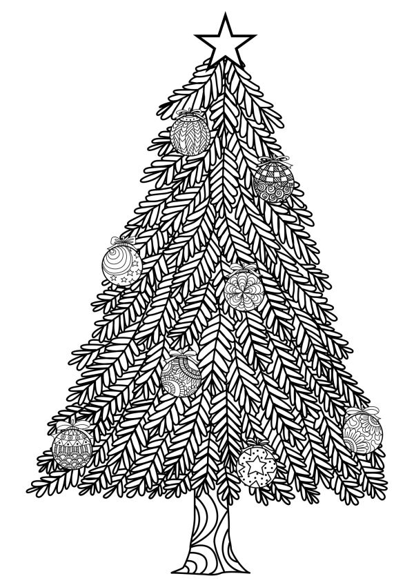 coloring pages of christmas trees # 25