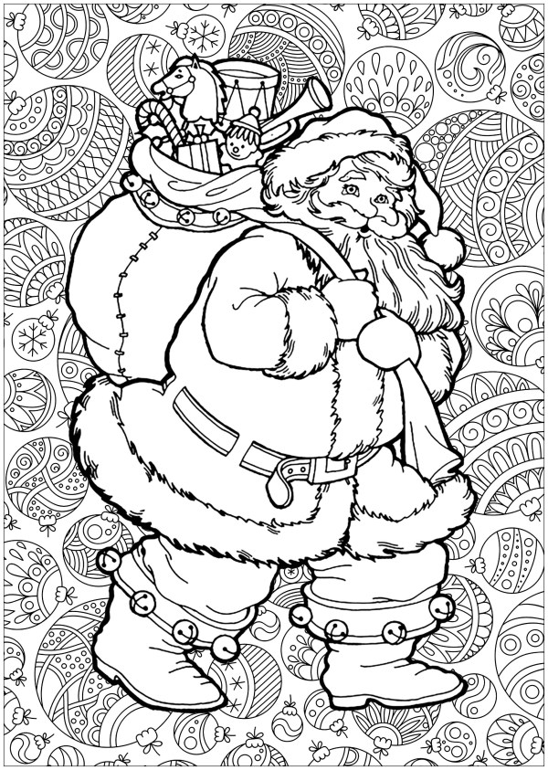 coloring pages of santa claus # 13