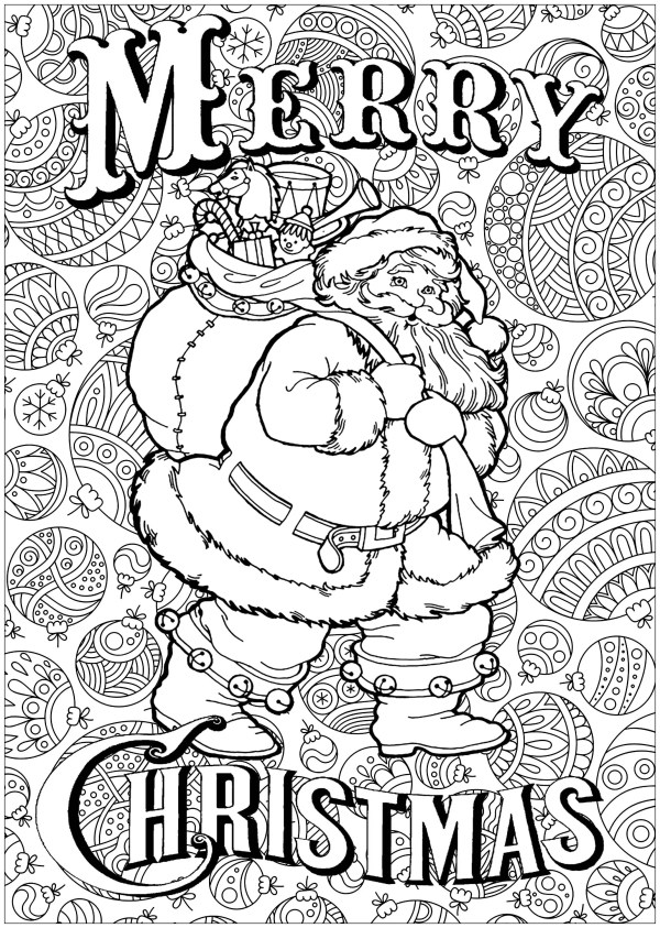 adult christmas coloring pages # 2