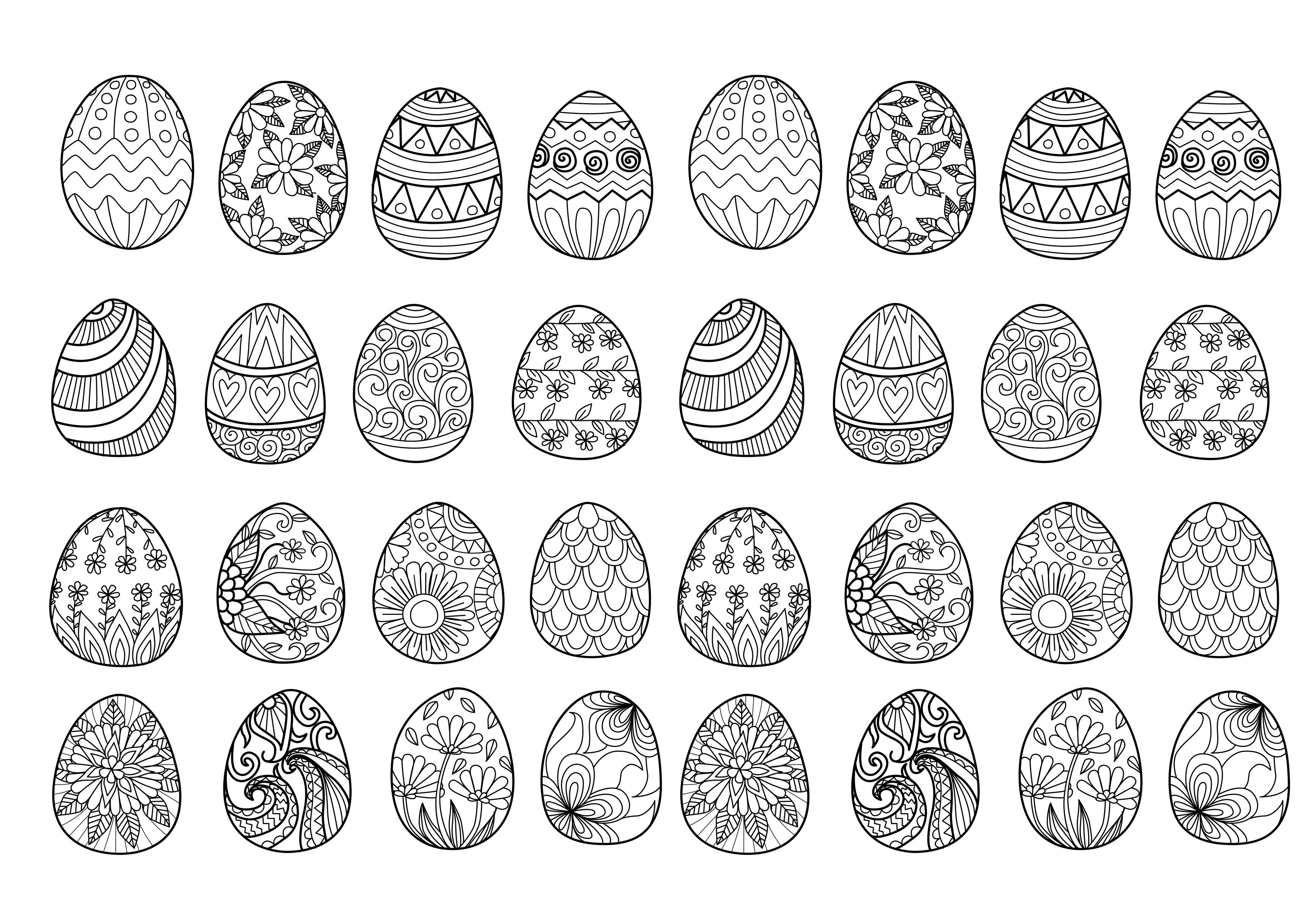 Easter Eggs Plex By Bimdeedee Easter Coloring Pages For