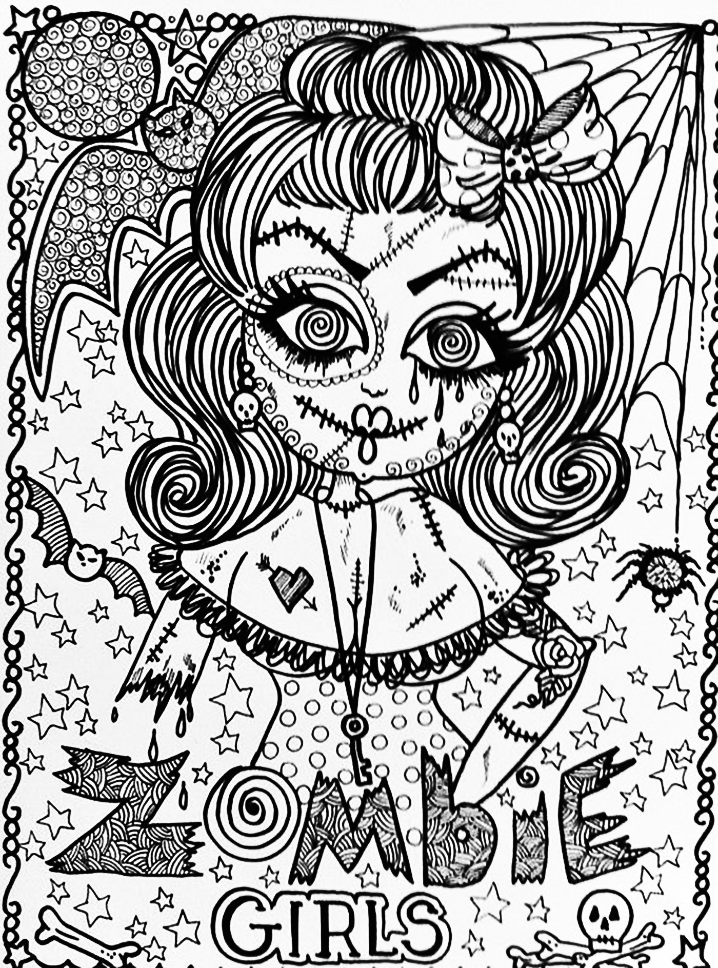 Disney Zombies Movie Coloring Pages