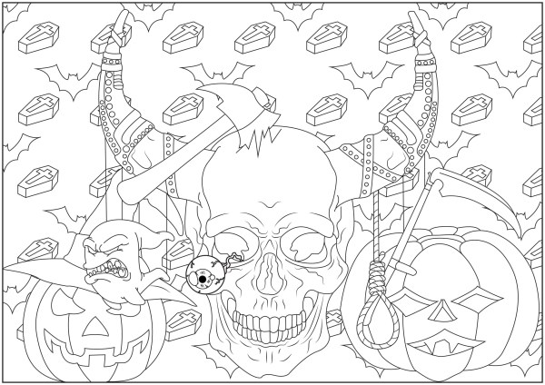 skulls coloring pages # 54