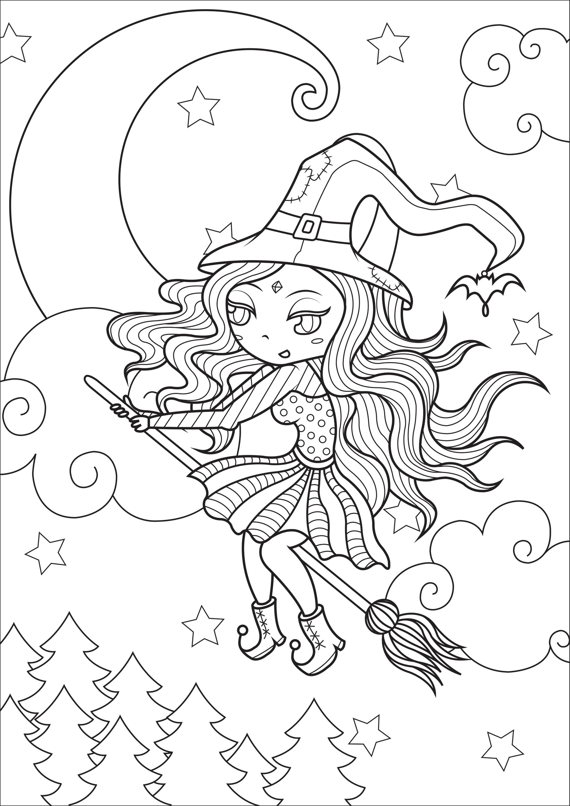 Simple Happy Witch