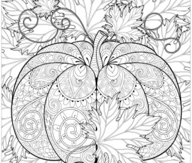 Autumn Leaves Coloring Pages For Adults