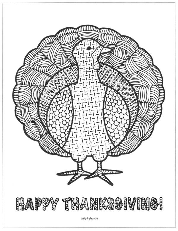coloring page turkey # 76
