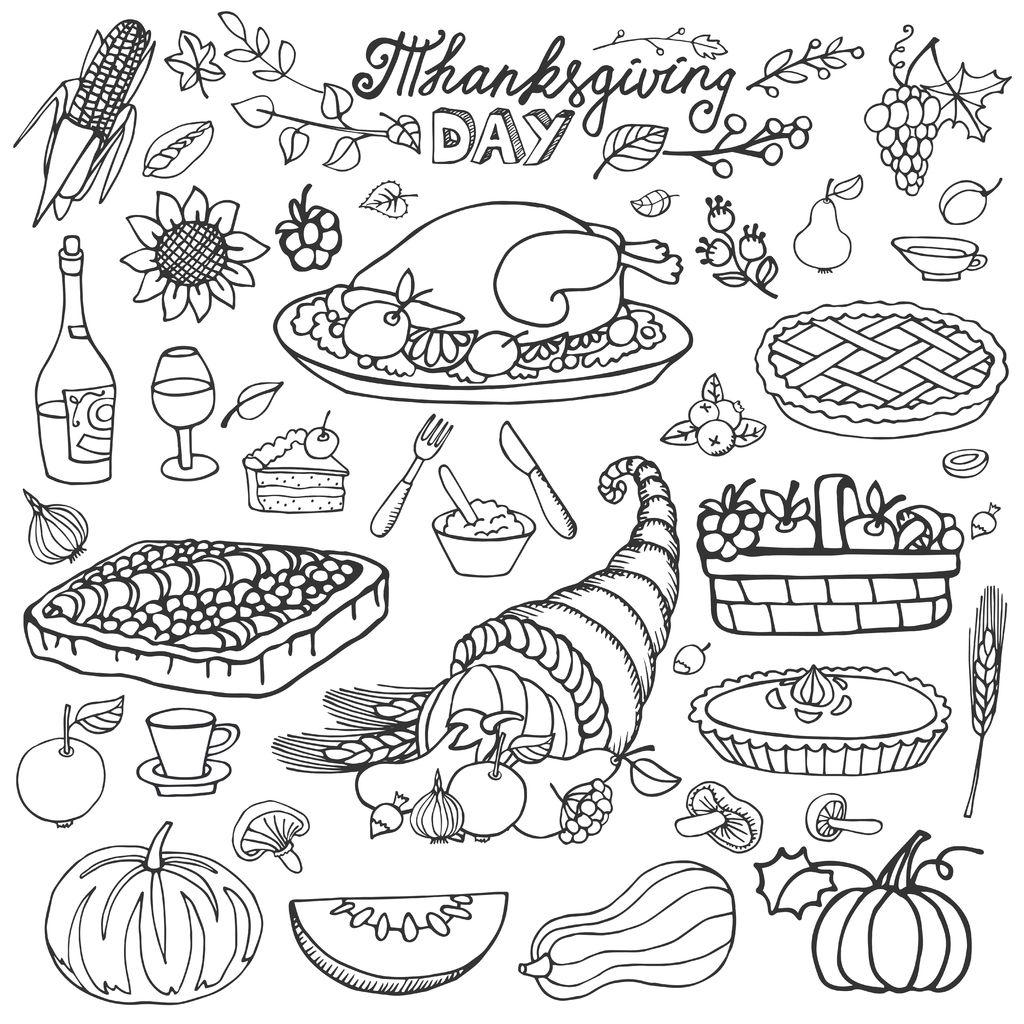 Thanksgiving Cornucopia And Turkey