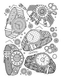 Book jewelry watches - Fashion Adult Coloring Pages