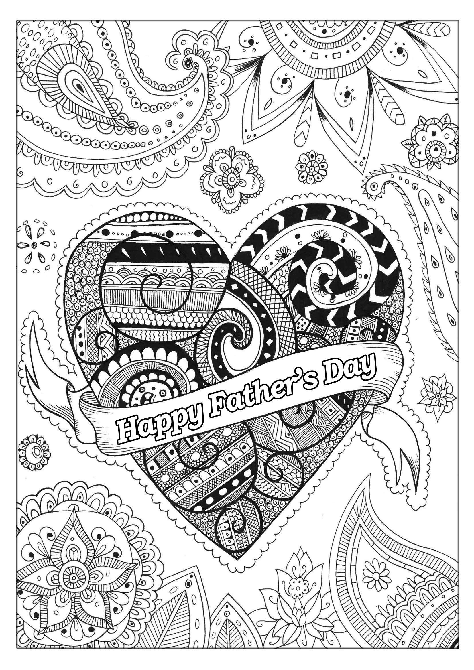 heart coloring pages for