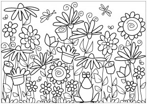 coloring pages flower # 11