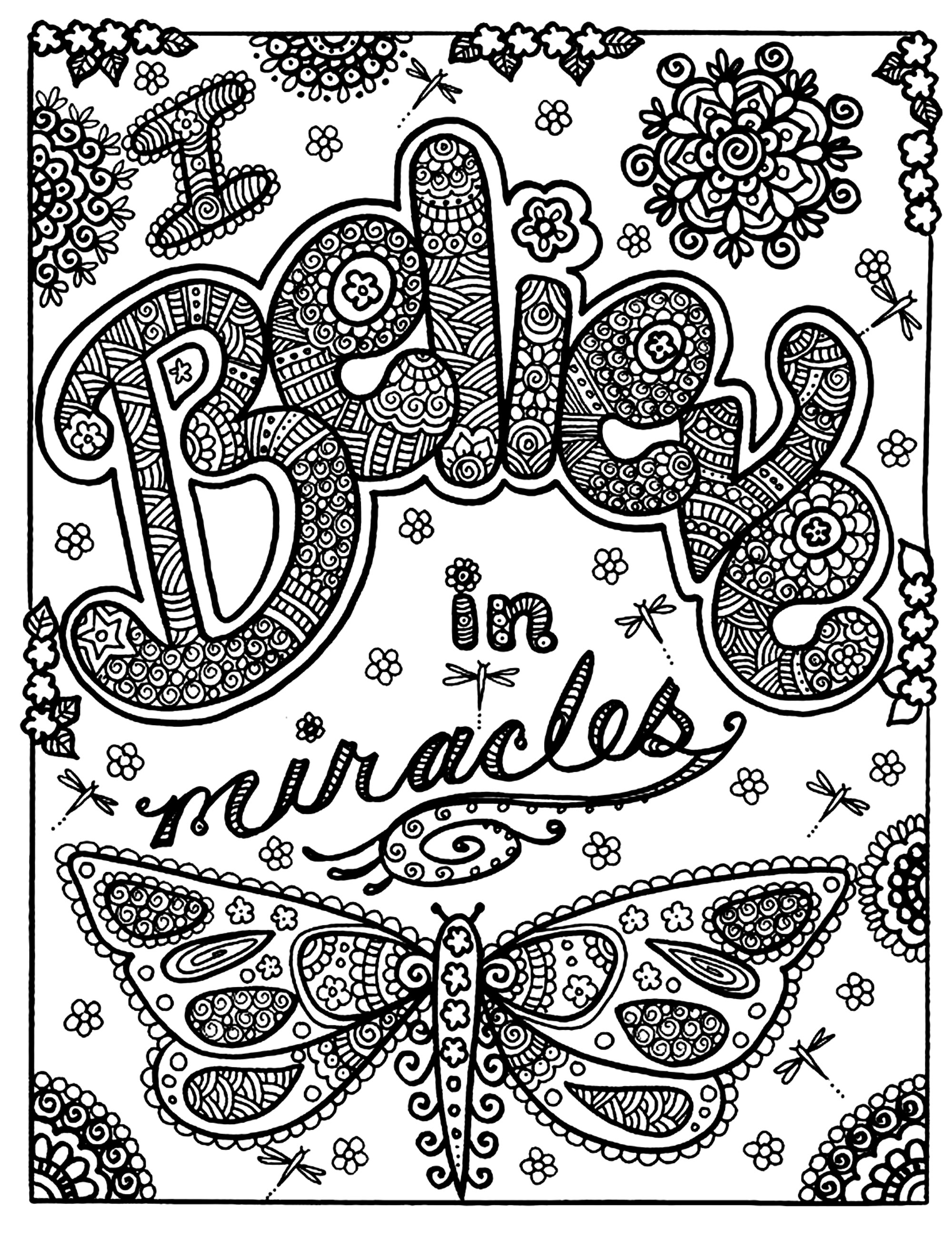 Butterfly Miracle Butterflies Insects Coloring Pages For