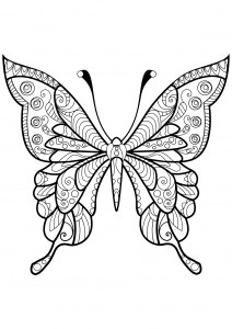 butterfly coloring pages for adults # 6