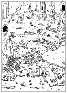 forest coloring page # 26