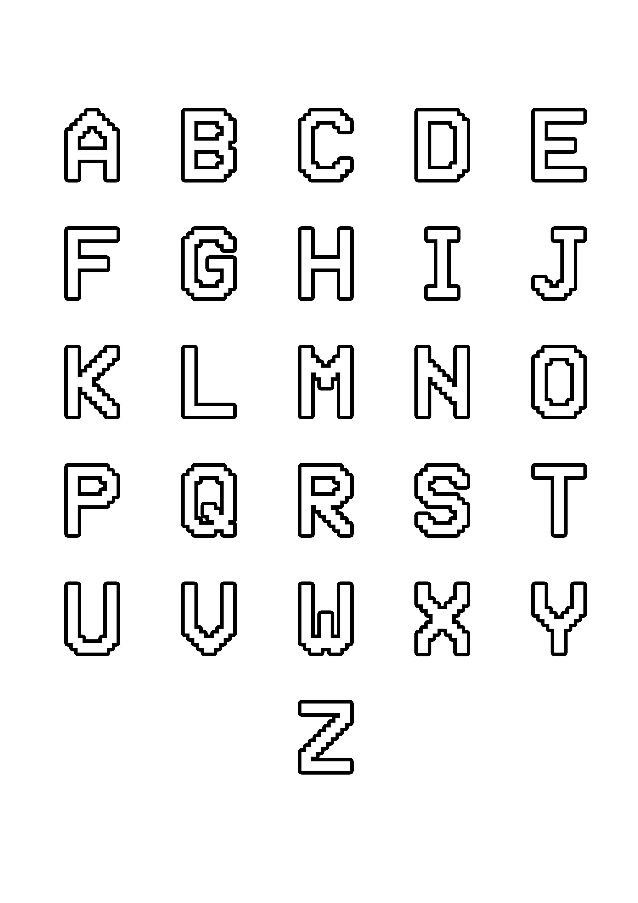 Simple Alphabet 12