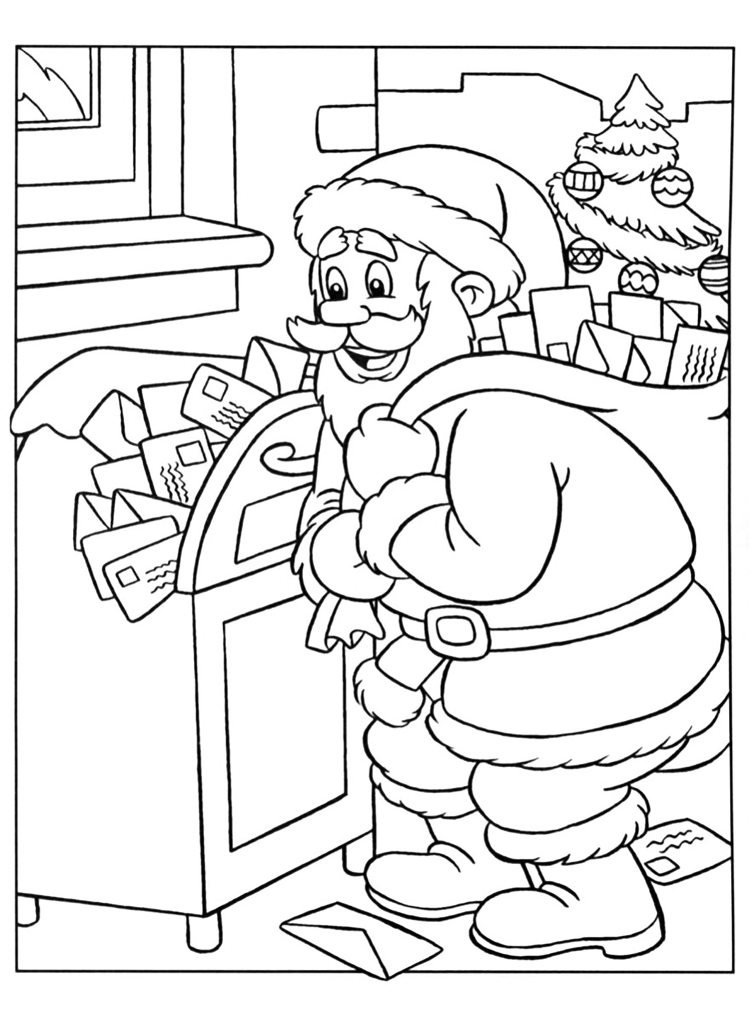 Santa Claus Letters Pages Coloring Pages