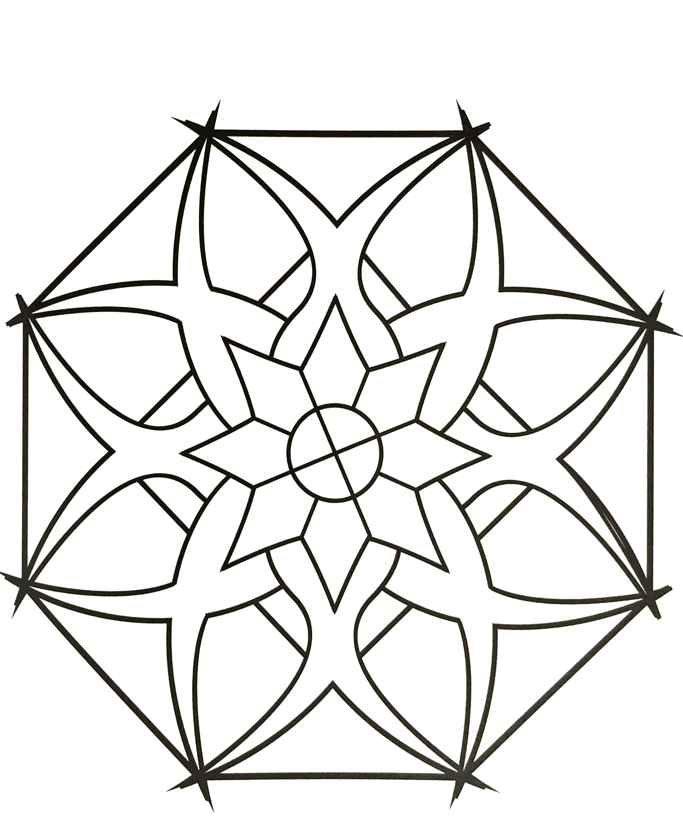 Simple mandala 87 - New Free & exclusive Coloring pages ... | free printable mandala coloring pages for adults easy