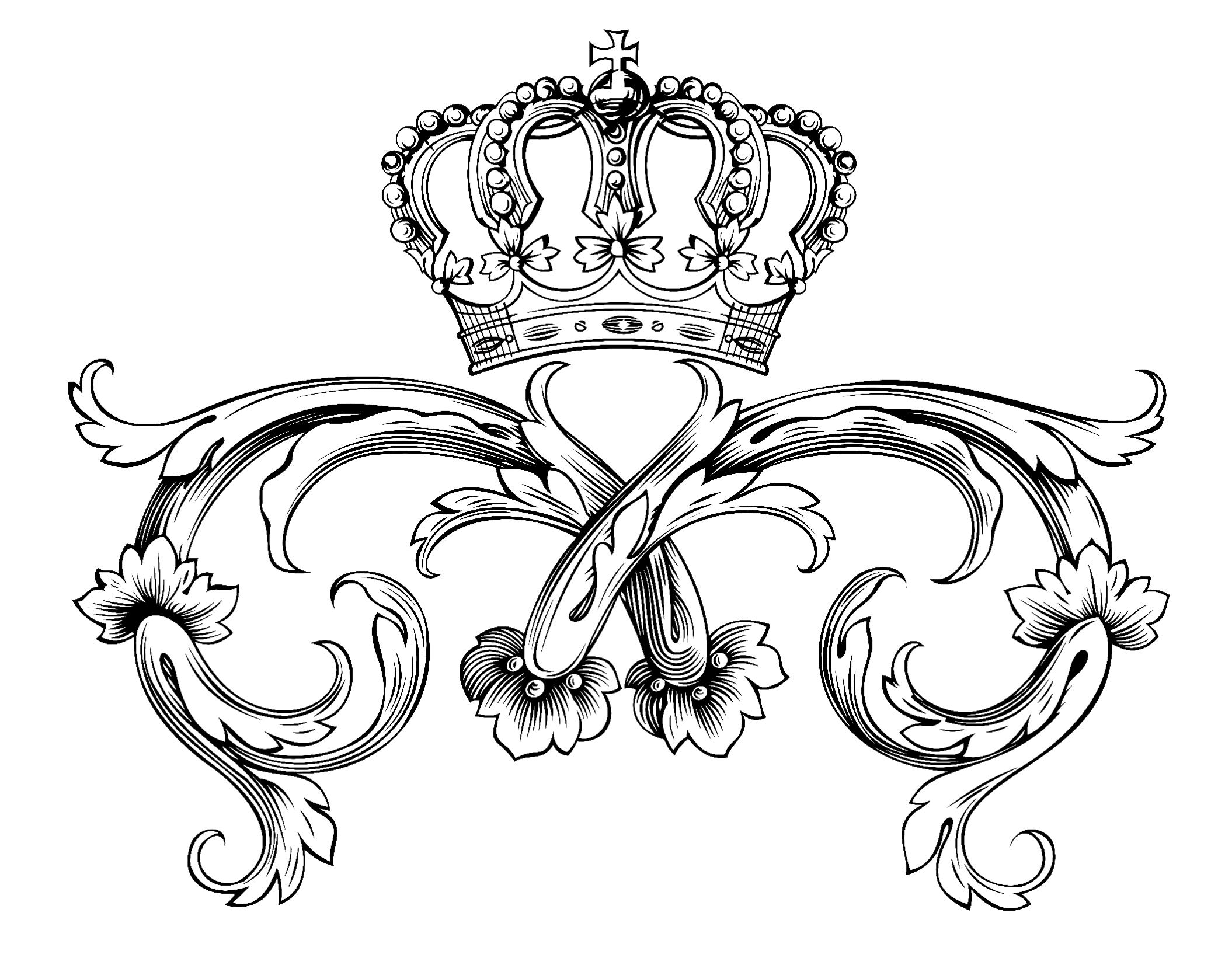 Symbol Royal Crown Royal Adult Coloring Pages