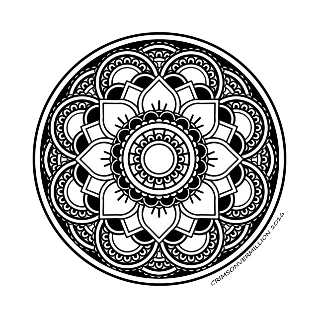 Peaceful unity - Mandalas Adult Coloring Pages