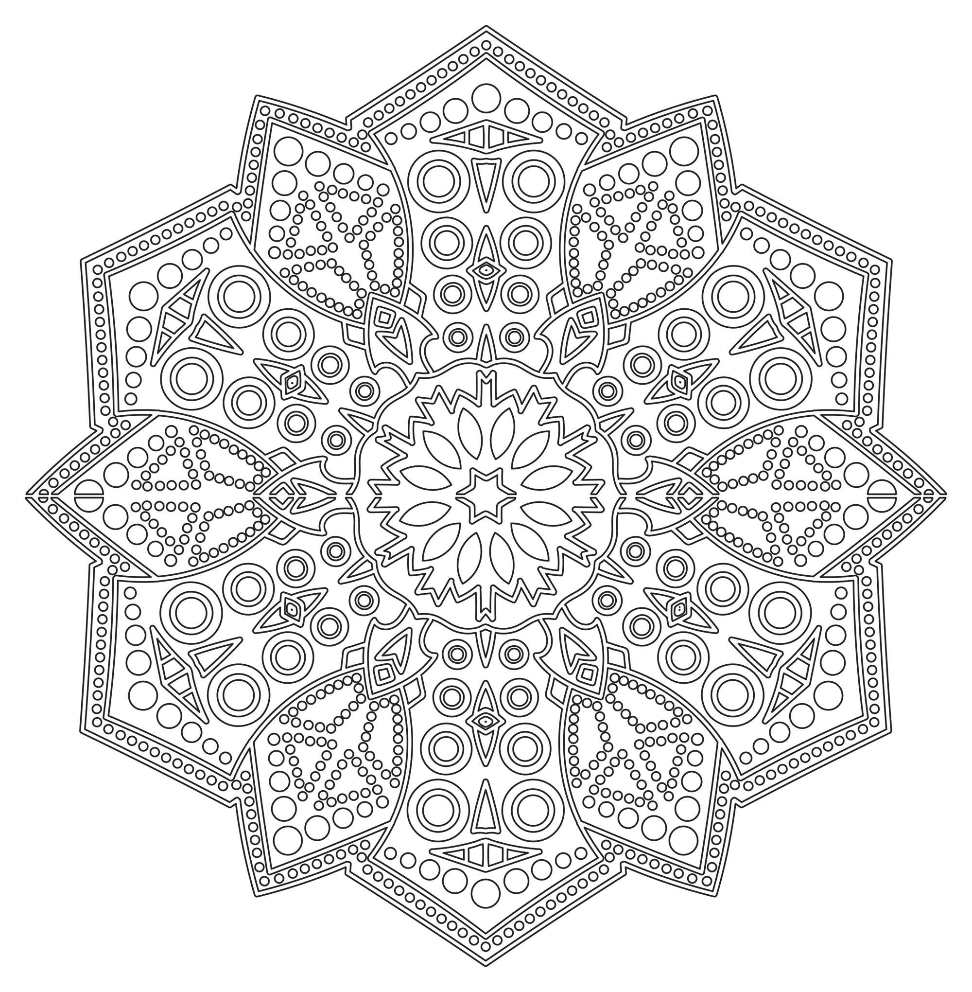 Mandala Zen Antistress 6 Mampalas Adult Coloring Pages