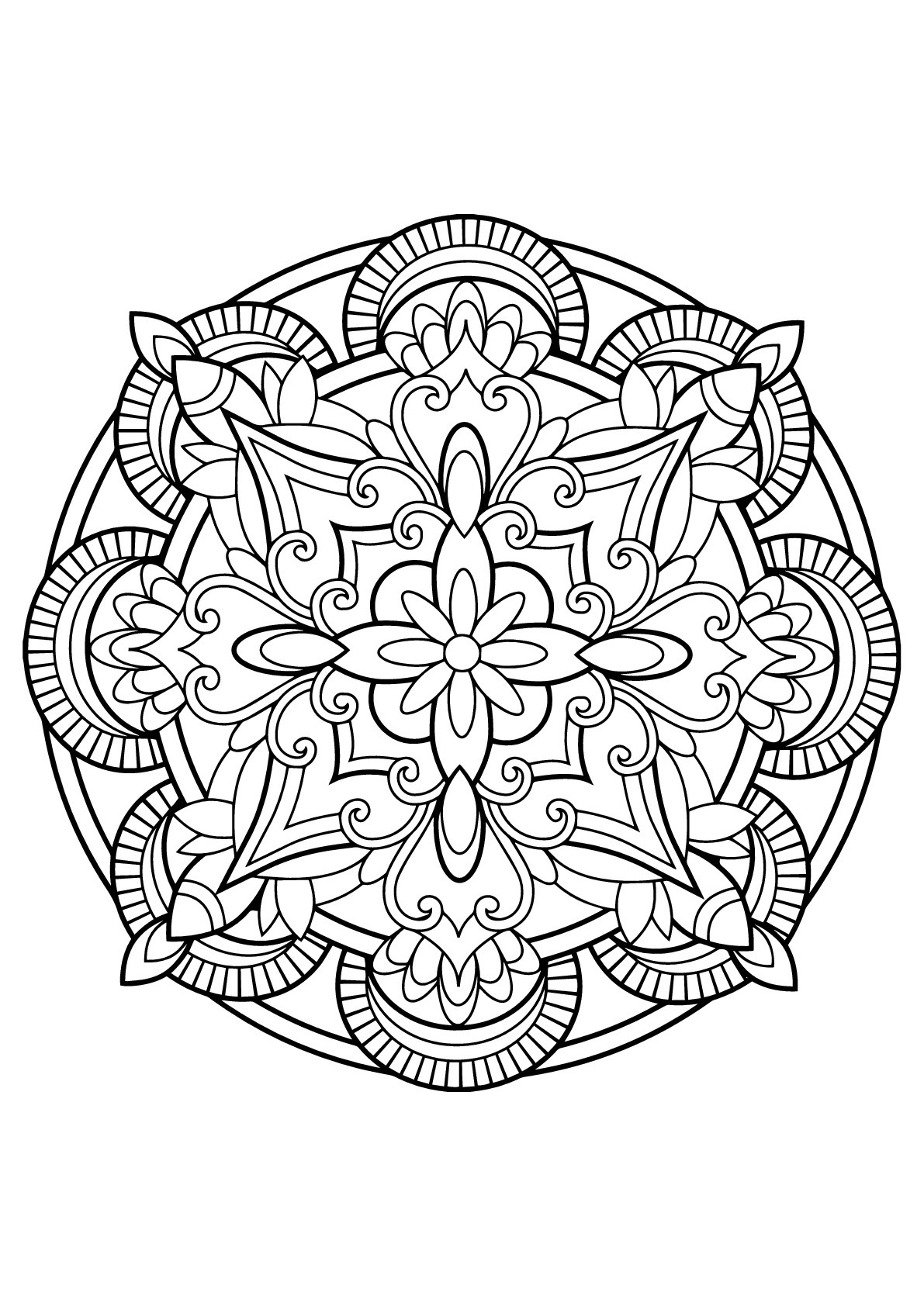 Mandala from free coloring books for adults 23 - Mandalas ... | free online mandala coloring pages for adults