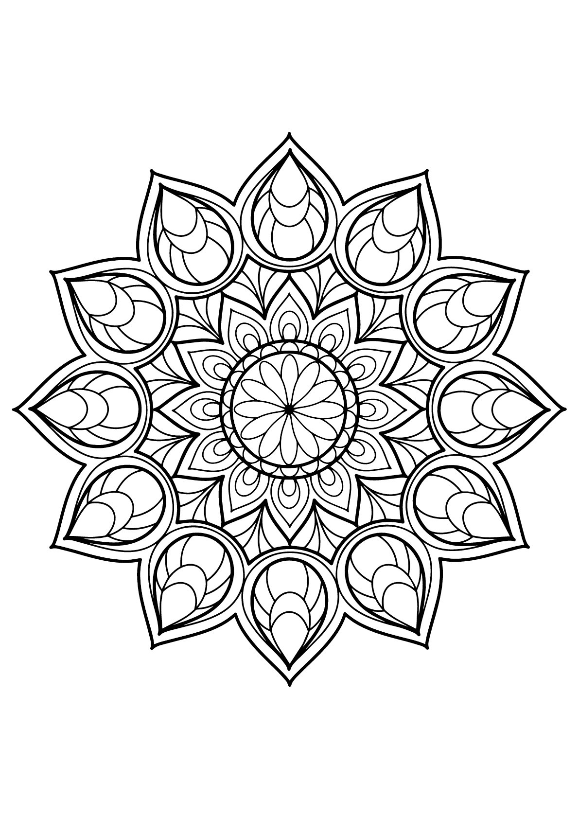 Mandala from free coloring books for adults 9 - M&alas ... | free printable mandala coloring pages for adults