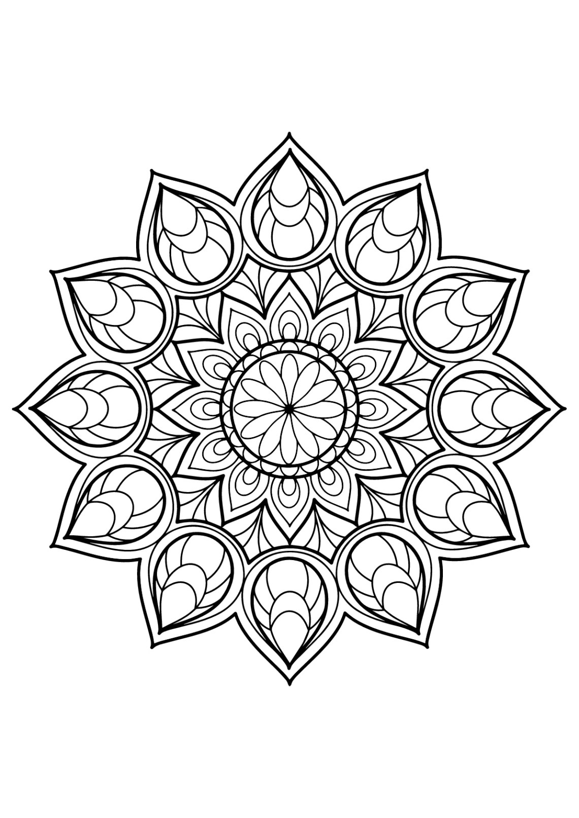 Mandala from free coloring books for adults 9 - M&alas ...   free printable mandala coloring pages for adults