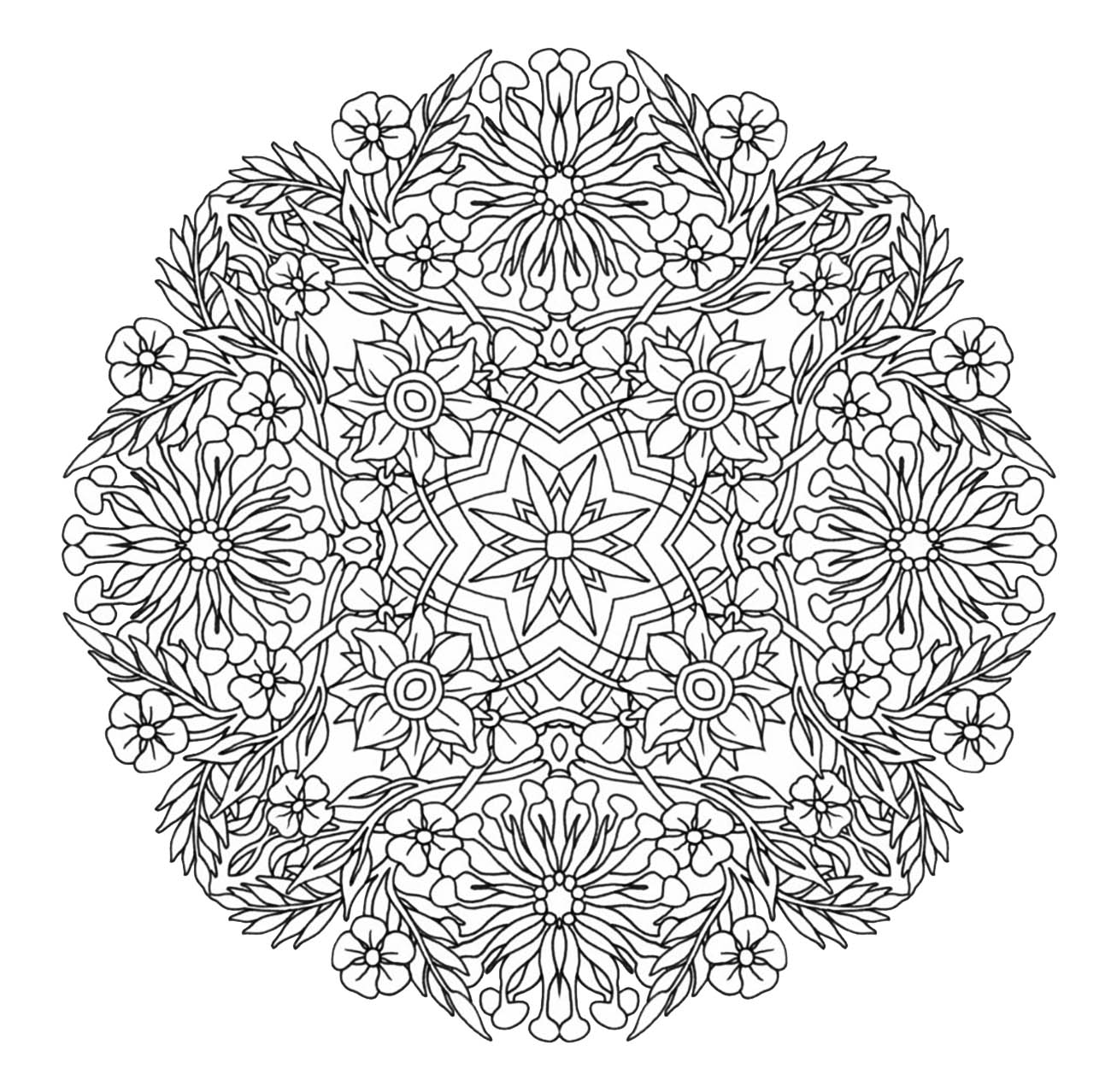 Mandala to download in pdf 9 - M&alas Adult Coloring Pages | coloring sheets for adults mandala