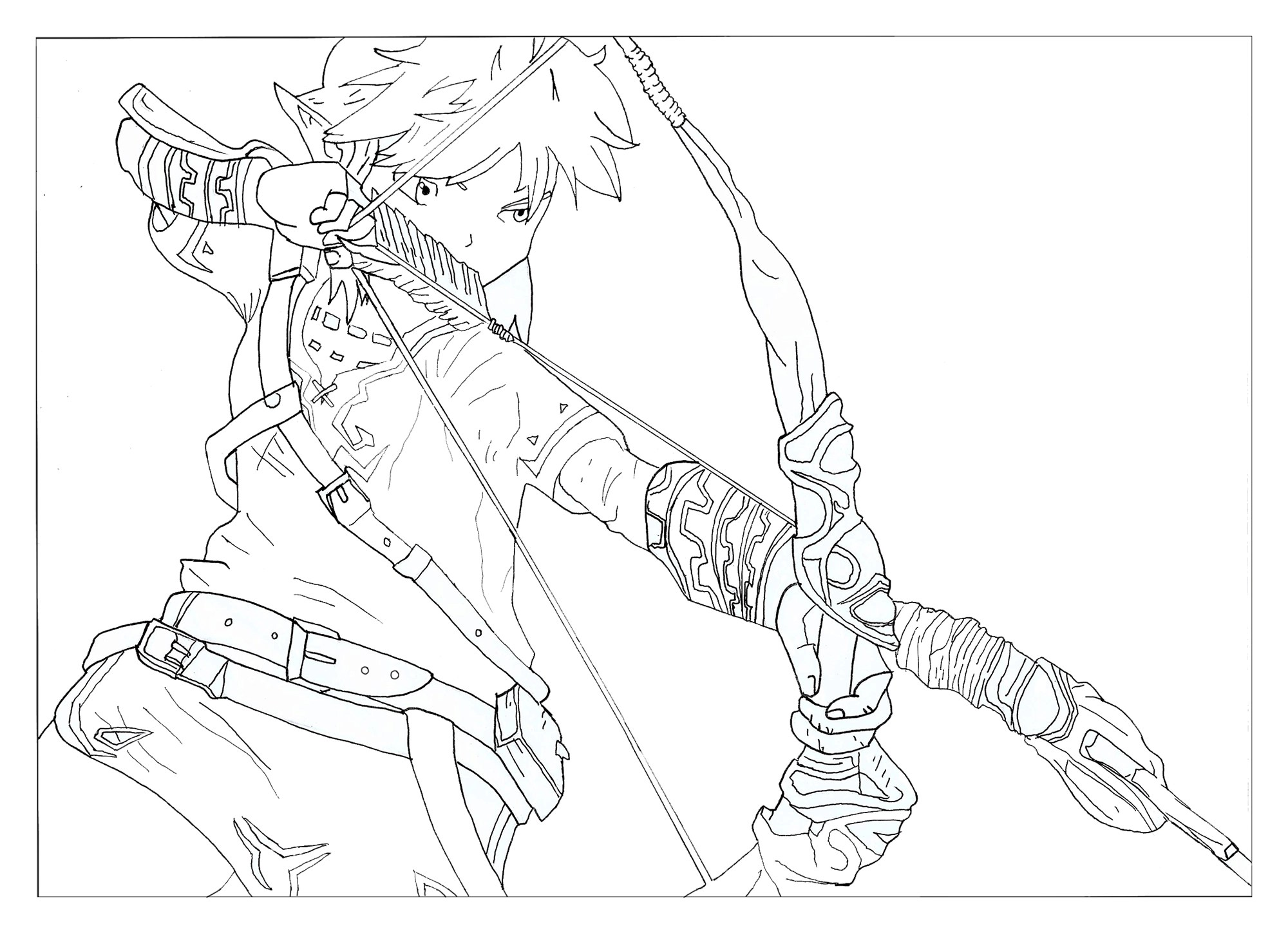 Luxe Coloriage Link Breath Of the Wild Sur Cheval