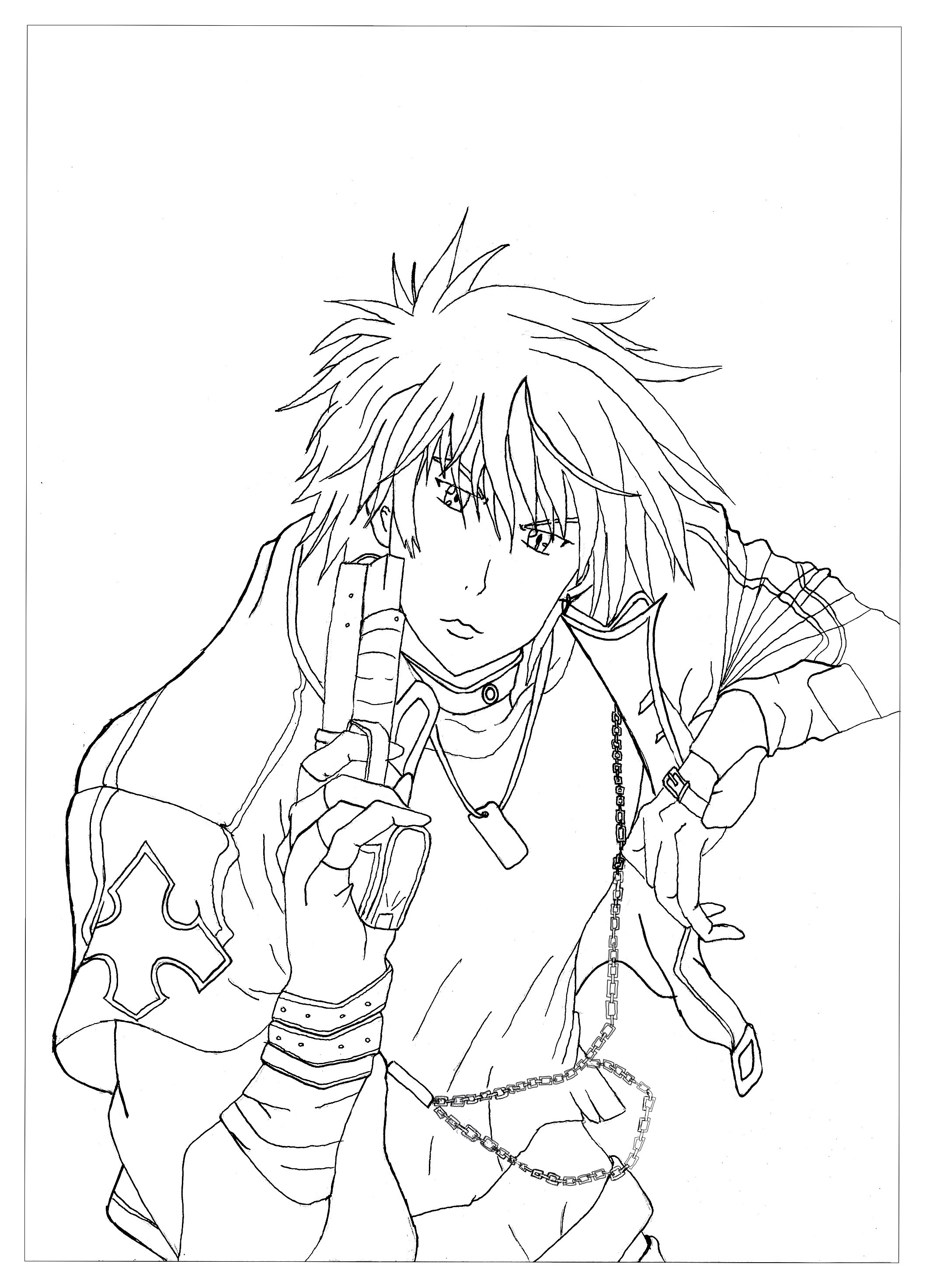 Manga Anime Coloring Pages For Adults