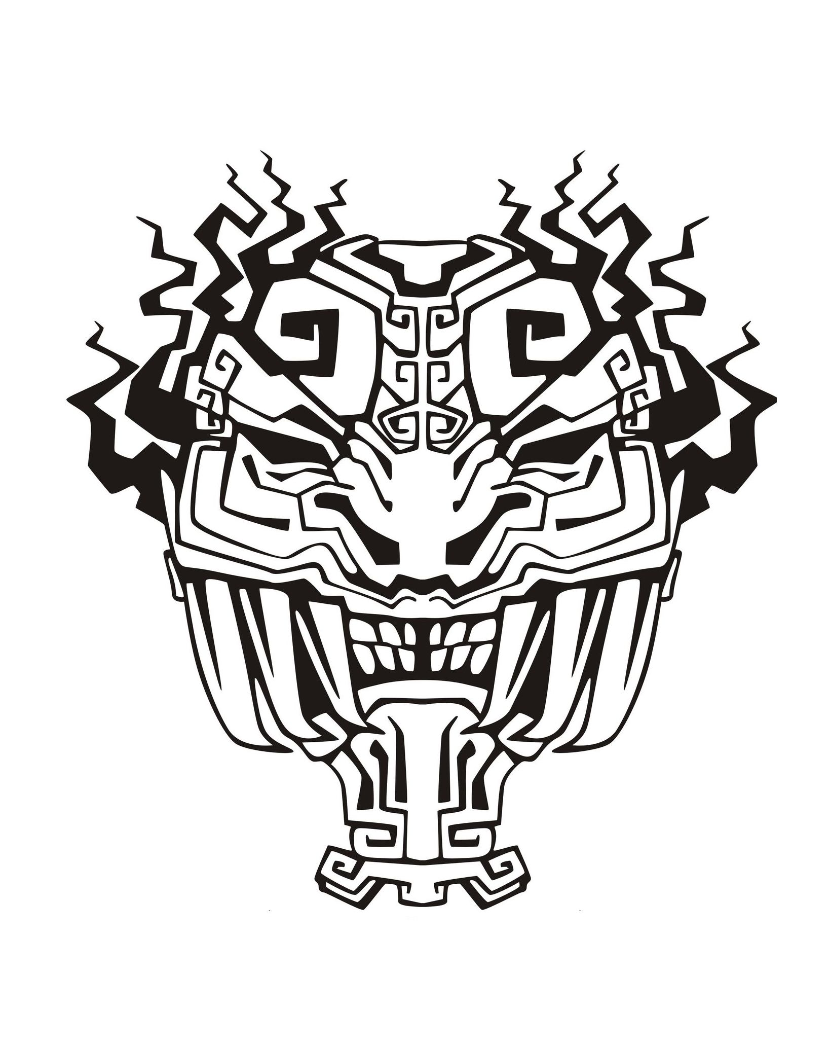 Mask Inspiration Inca Mayan Aztec 4