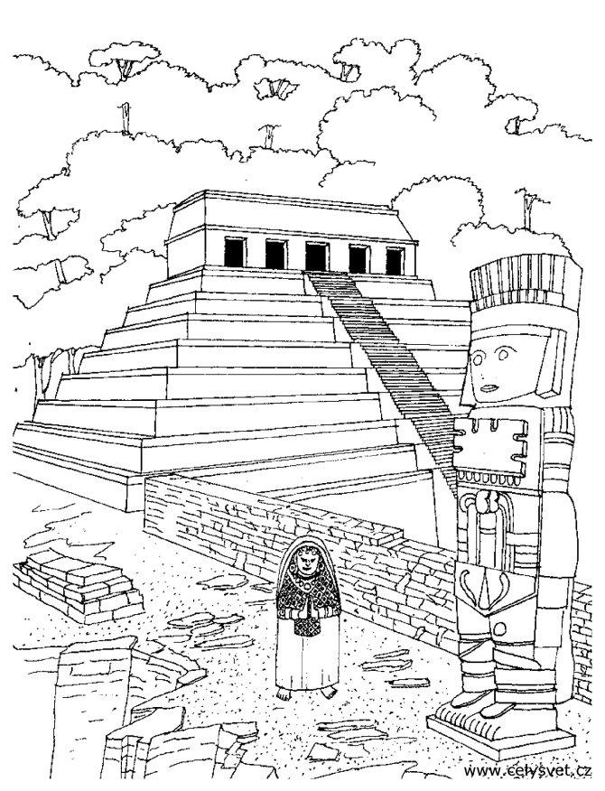 aztec murals coloring pages - photo#23
