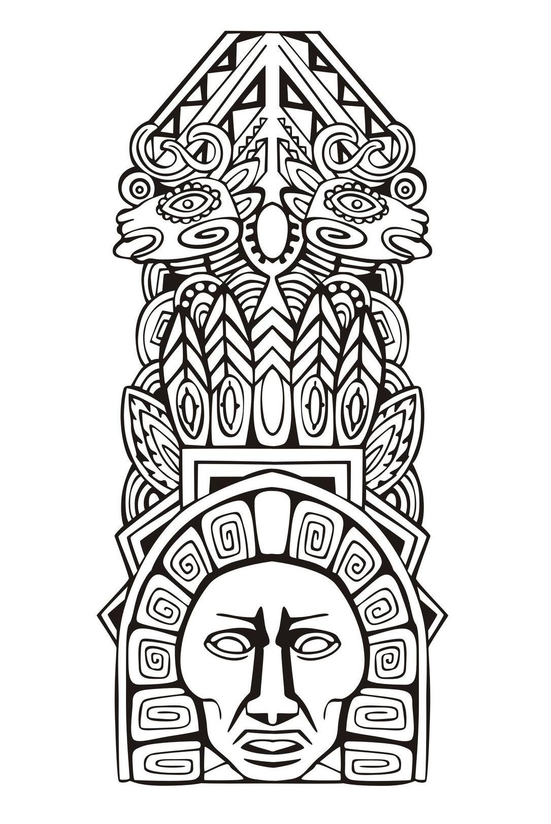 Totem Inspiration Inca Mayan Aztec 5