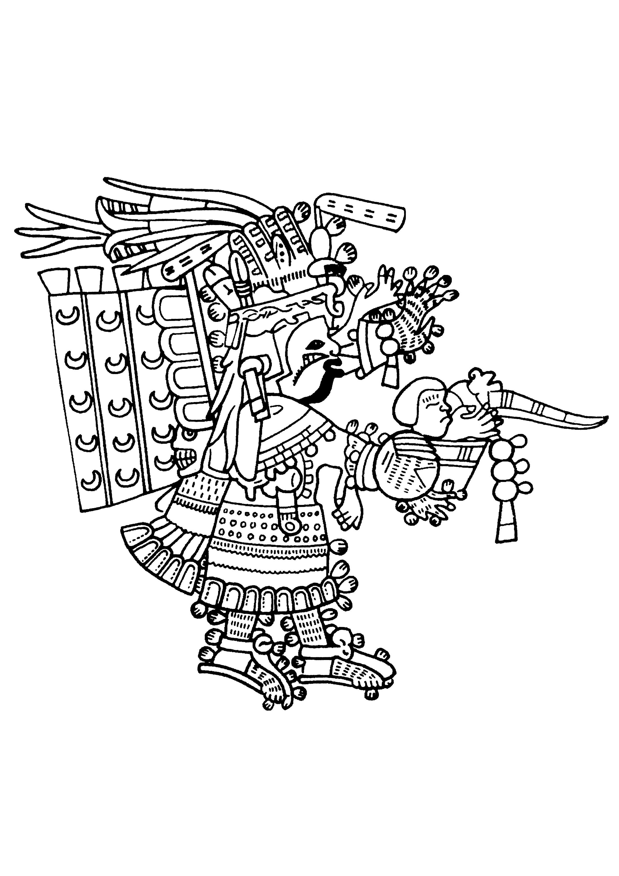 Maya Art British Museum 7 Mayans Amp Incas Adult Coloring