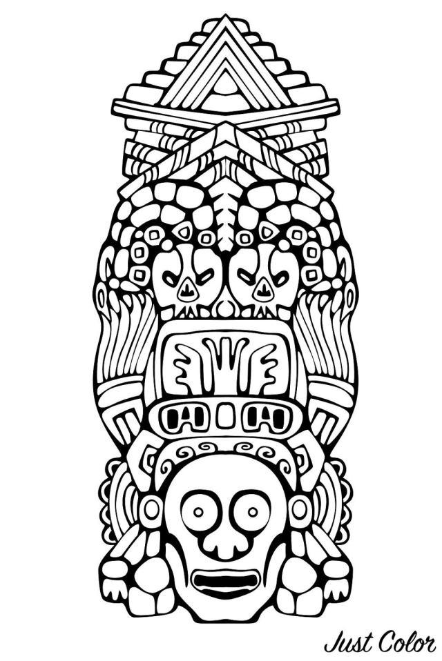 Totem inspiration inca mayan aztec 26 - Mayans & Incas Adult