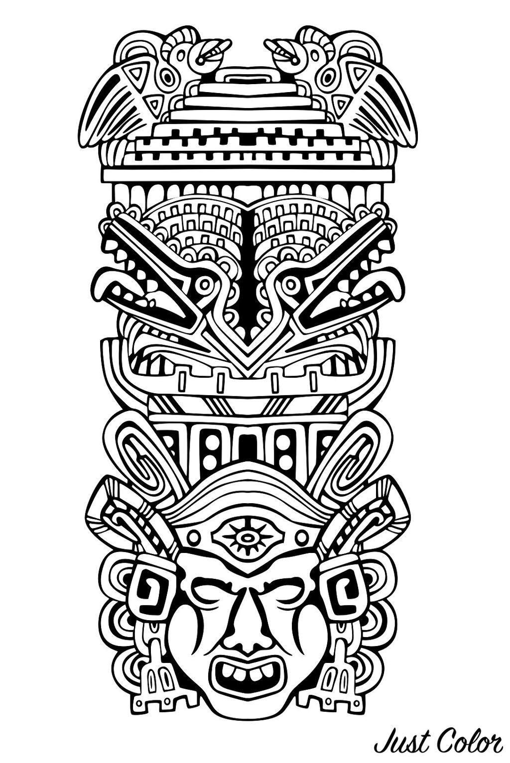 Totem Inspiration Inca Mayan Aztec 4