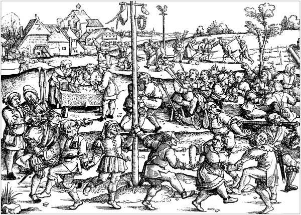 Middle Ages Peasants Celebrating - Adult