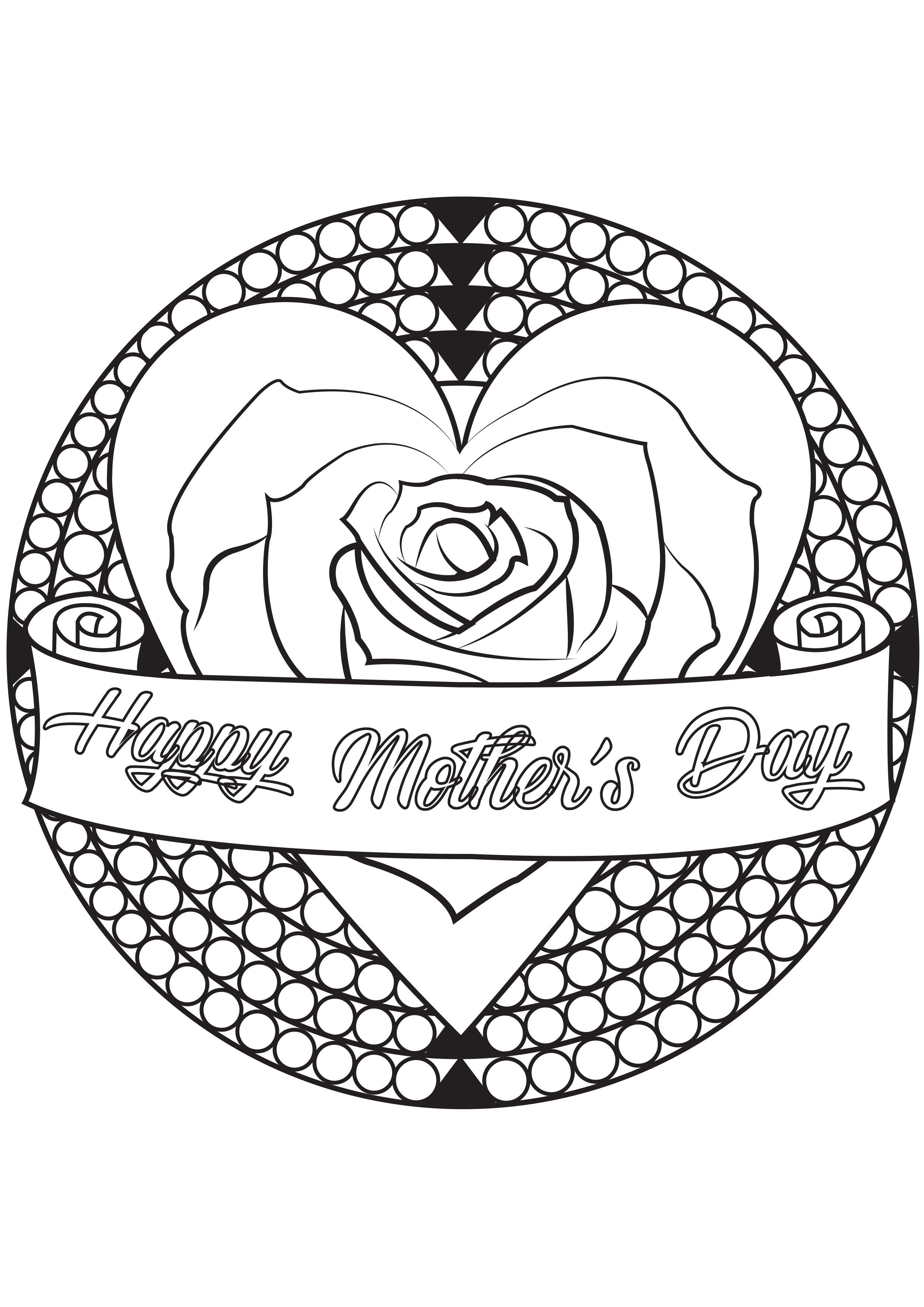Mother Day Mother S Day Adult Coloring Pages