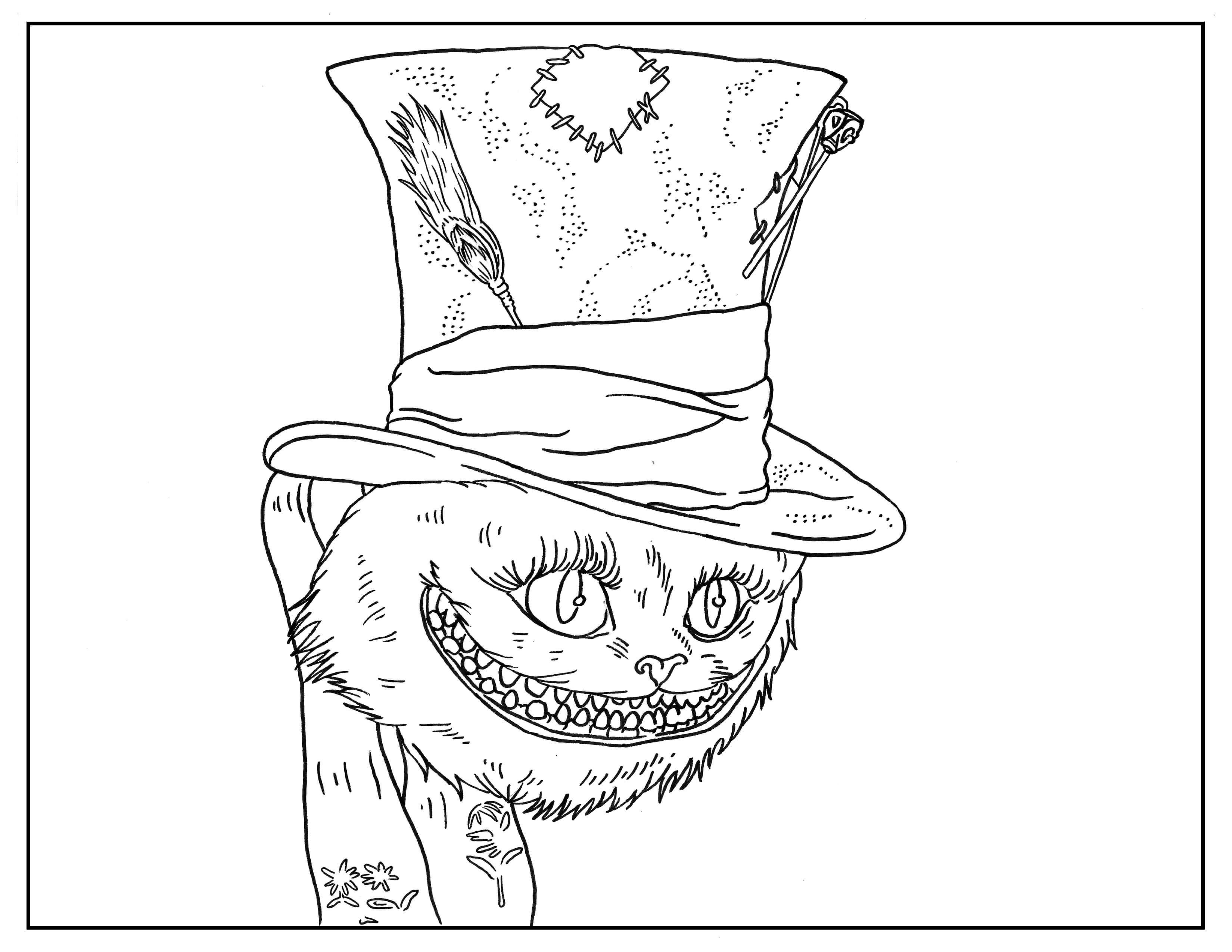 Alice In Wonderland Book Page Movies Coloring Pages For Adults