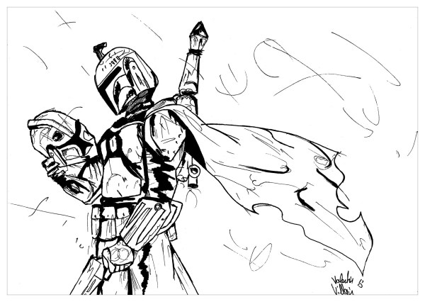 boba fett coloring page # 12