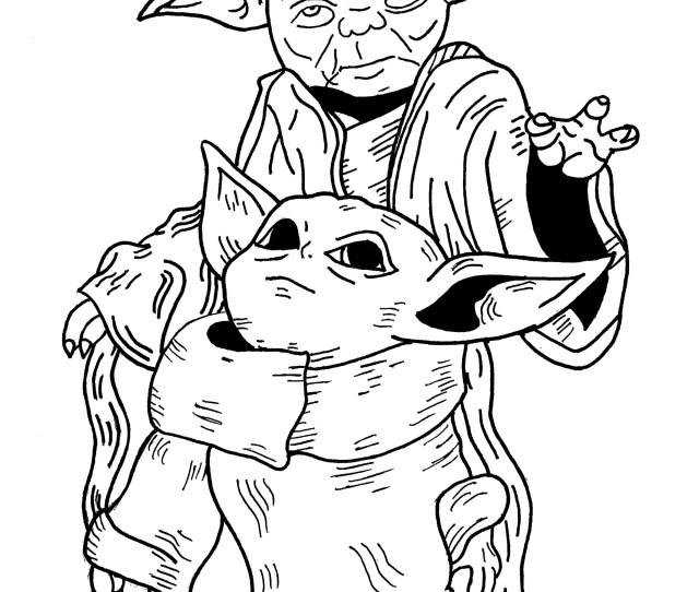 Baby Yoda Yoda Star Wars Movies Adult Coloring Pages