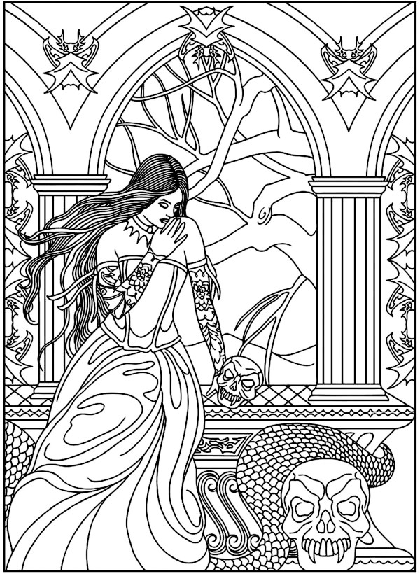 fantasy coloring pages for adults # 17