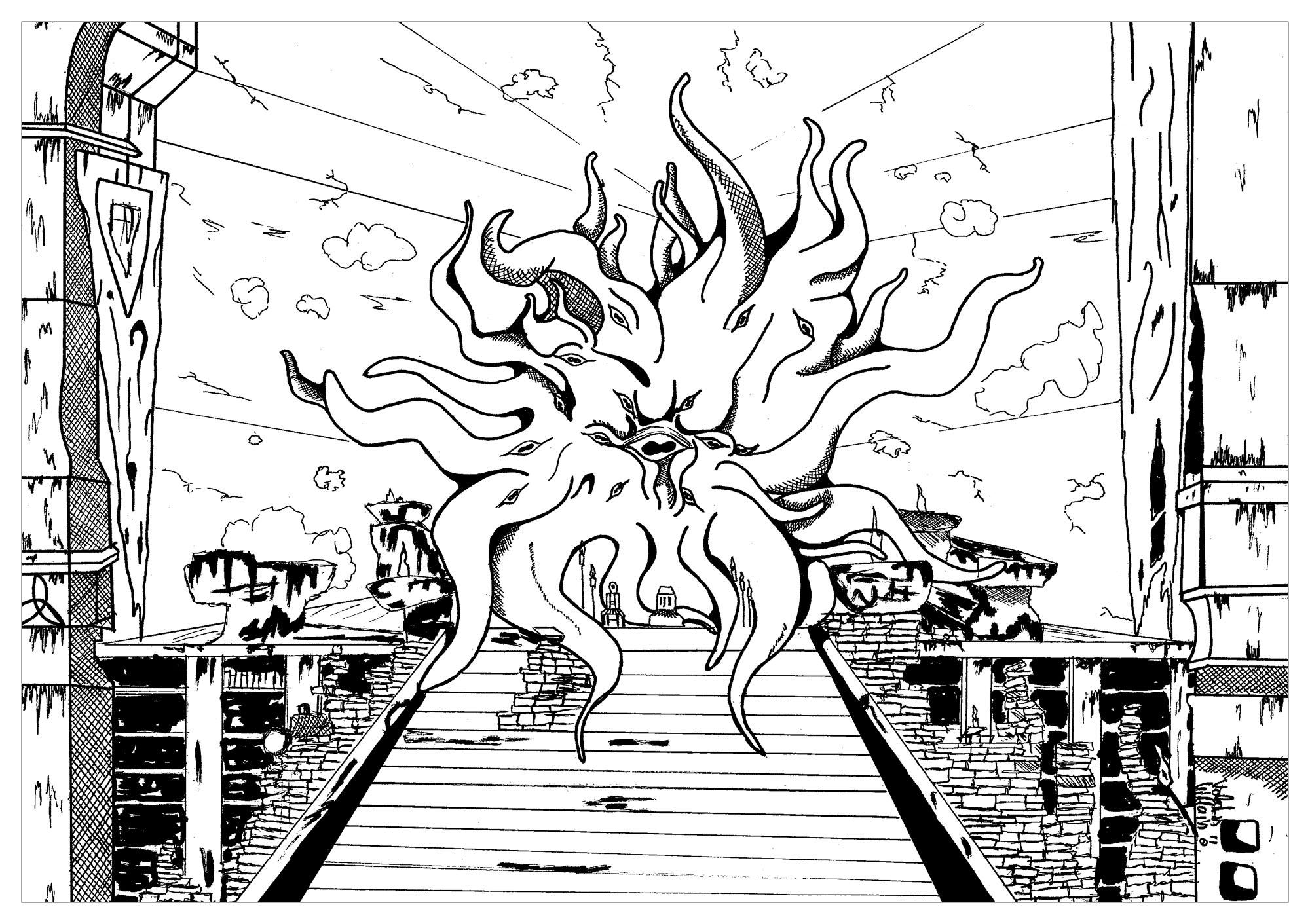 Hermaeus Mora Myths Amp Legends Adult Coloring Pages