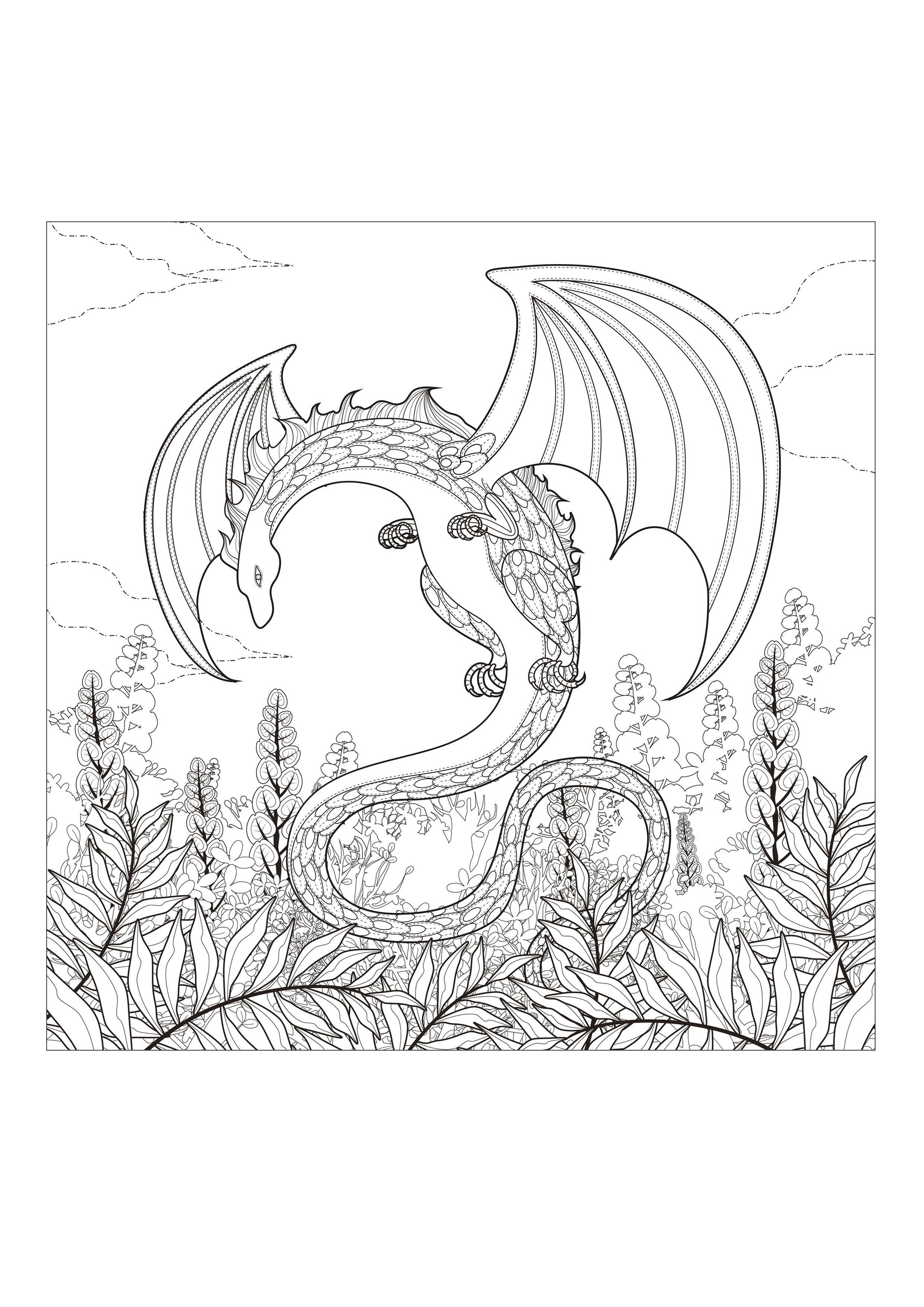 Monster Dragon Myths Amp Legends Coloring Pages For